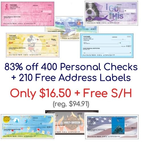 83 Off 4 Boxes Of Personal Checks Only 16 50 Free S H Free Address Labels Free Address Labels Address Labels Labels