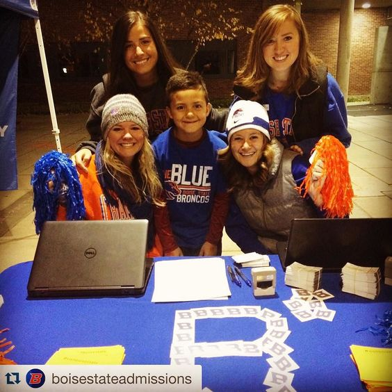 #GoBroncos! Kickoff is at 8:15pm. Details about tonight's game at broncosports.com #Repost @boisestateadmissions  Admissions is ready to host over 800 future students and guests for the New Mexico football game! What about you?! #visitboisestate #boisestate