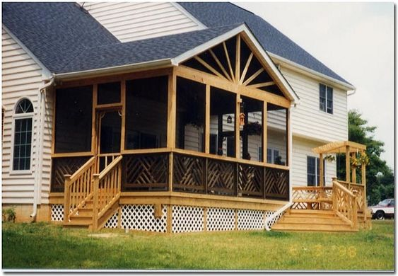 Screened in porch ideas screen porch plans for your home for Large screens for porches