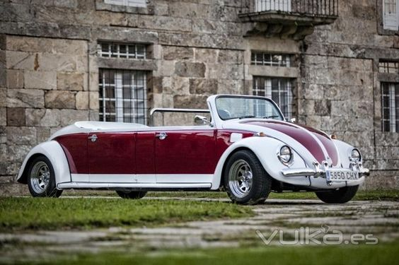 STRETCH VW...wedding drive-away ride? Yes, please!