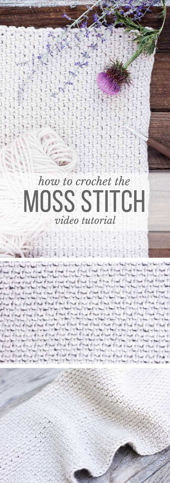 Learn how to crochet the moss stitch with this beginner-friendly video lesson. Perhaps you know the moss stitch by the name the linen stitch, the woven stitch or the granite stitch--either way, it's beautiful and easy to master!: