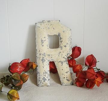 Metal Letter R Antique Marquee Sign by VintageEmbellishment2 for $16.00 #zibbet #rustic