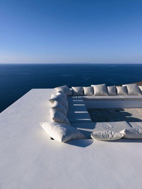 Greece.   White & Blue