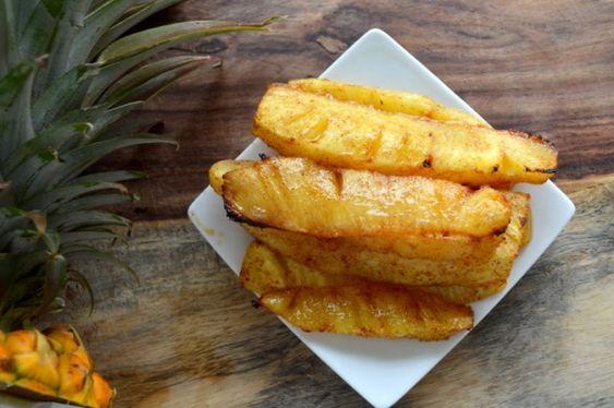 Geröstete Ananas