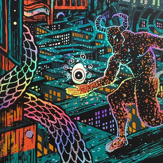 """""""In a dream I was a Minotaur, my soul was filled with rainbow light.  sssomething special for tomorrow!"""" Photo taken by @james.r.eads.art on Instagram"""