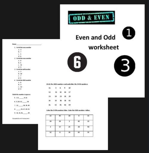 Even And Odd Worksheet Math Activities Elementary Even And Odd Elementary Math