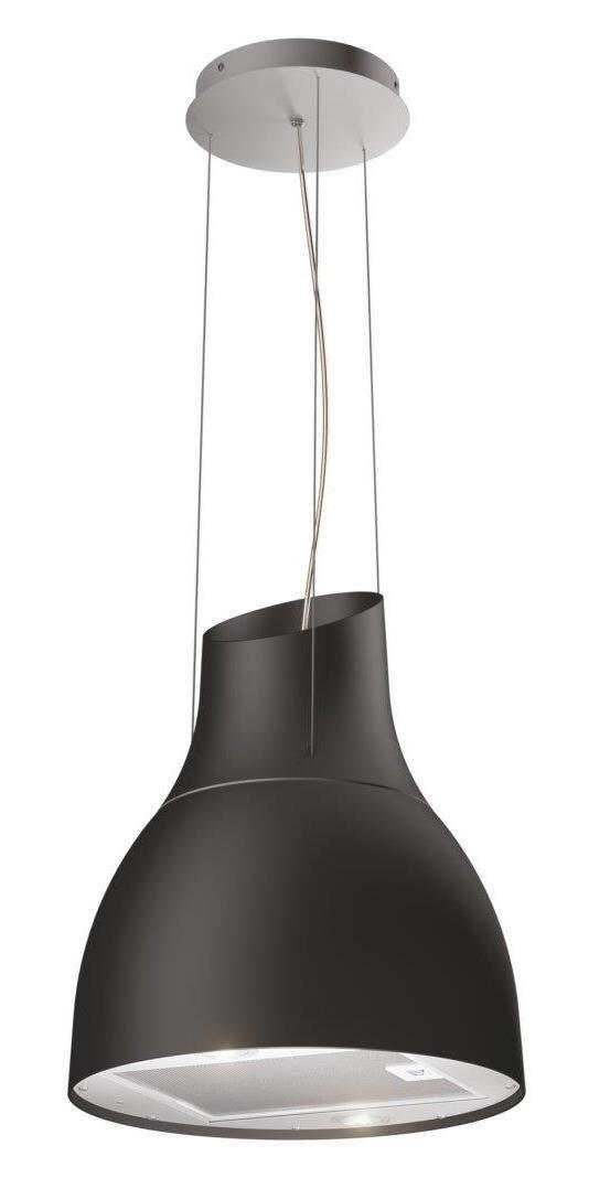 Hotte Design Suspendue Pour Ilot Noir Mat Airforce Pour Votre