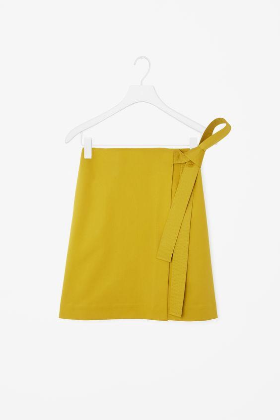 COS   Wrap-front cotton skirt