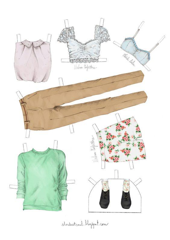 stardustsoul: Paper Doll Clothes Imprimibles I