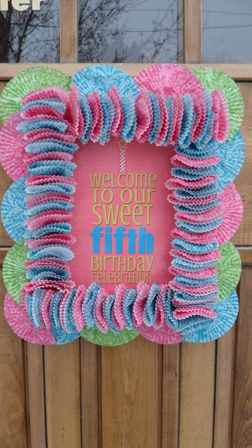 Cupcake liner welcome sign
