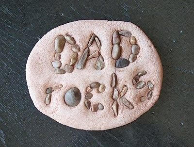 Fathers day craft....totally doing this with the rocks they have collected!: