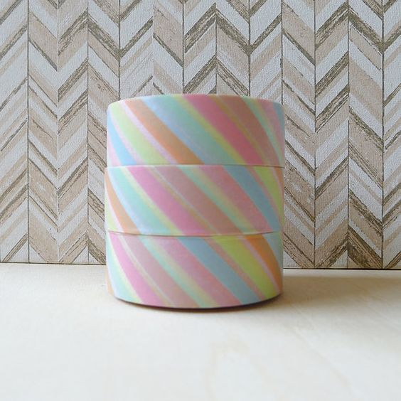 Hey, I found this really awesome Etsy listing at https://www.etsy.com/il-en/listing/173031351/pastel-stripes-washi-tape