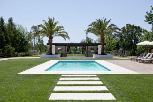 Modern Farmhouse Pool Landscape Design Modern Landscaping Modern Landscape Design