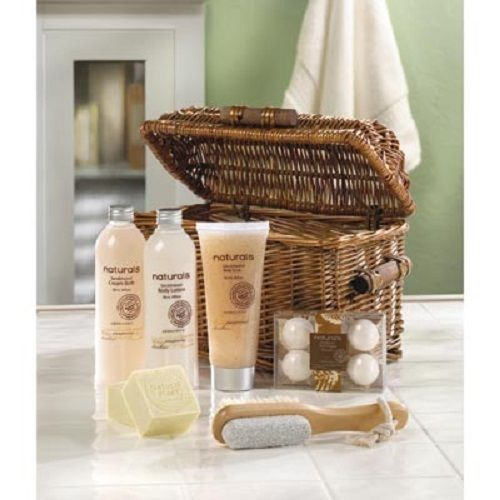 Sandalwood Naturals Spa Basket Gift Bath Set Body Soap Lotion Free Shipping NEW