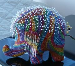 Elephant Pincushion by Hoki Quilts