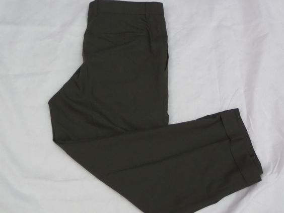 PAZONI Mens Slacks Dress Pants sz 34 x 36 Olive Made in Italy ...