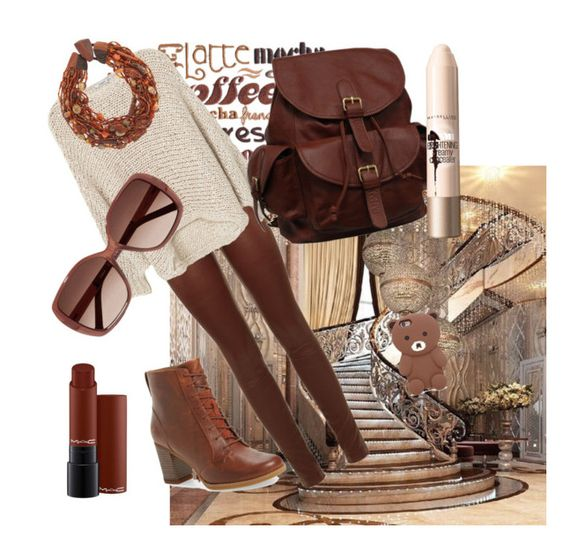 """""""#late mocha"""" by adriane-quoos on Polyvore featuring SET, MANGO, Timberland, AmeriLeather, Eskandar, Forever 21, MAC Cosmetics, Maybelline and Chloé"""