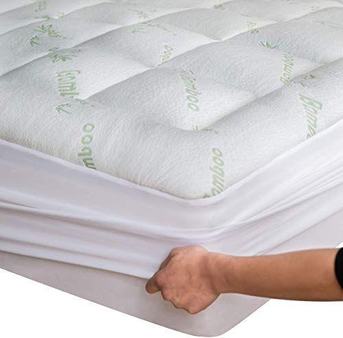 Buy Niagara Sleep Solution Bamboo Mattress Topper Cover Queen With1 Bamboo Pillow Protector Cooling Pillow Top