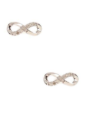 Diamond Infinity Stud Earrings - 0.05 ctw by Savvy Cie on @HauteLook