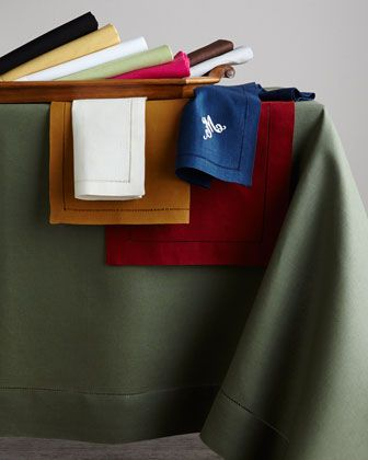 Sferra® - hemstitched dinner napkins - 100% linen - made in Italy - (set/4) $50