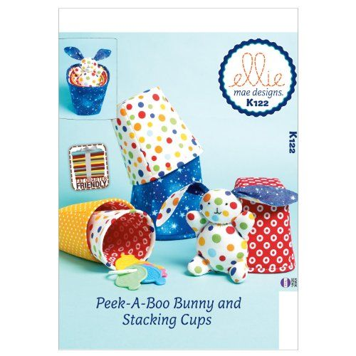 Kwik Sew Patterns K0122 Stacking Cups and Bunny Sewing Template, One Size