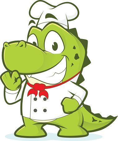 Crocodile ou Alligator chef - Illustration vectorielle