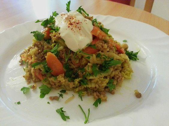Chefkoch.de Rezept: Currybratreis mit Hack