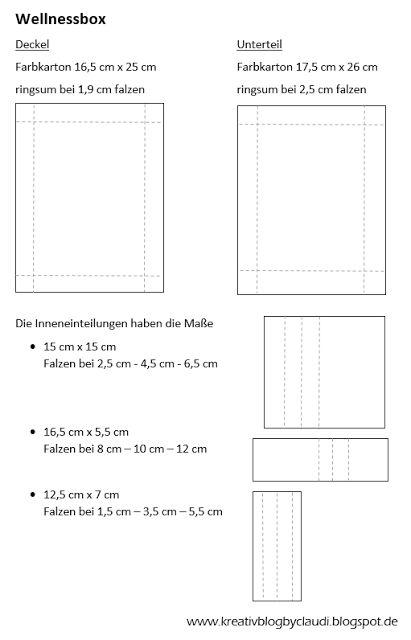 www.kreativblogbyclaudi.blogspot.de: Anleitung Wellnessbox
