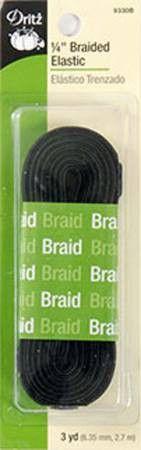 """Braided Elastic 1/4"""" 3 Yards"""