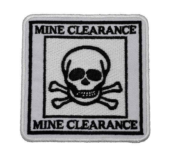 Mine Clearance Agency Officer Tactical Skull DIY Applique Embroidered Sew Iron on Patch -- You can get additional details at the image link.