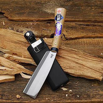 Japanese Hatchet. No good trying to make kindling with an axe.