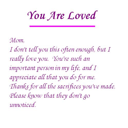 We Love You Mom Quotes Extraordinary Thank You For All You Do Mom And Thank You For Loving Me For Who I