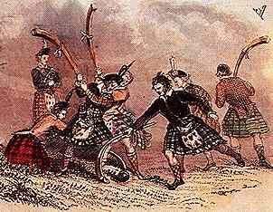 Shinty... The national sport of Gaelic Scotland.