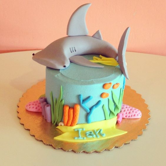 Birthday Cakes I Want And Shark Cake On Pinterest