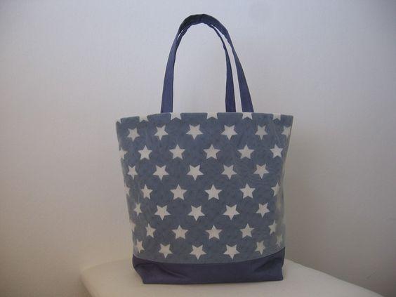 """Schultertaschen - Shopping - Tasche """" Sterne """" - ein Designerstück von more-life bei DaWanda"""