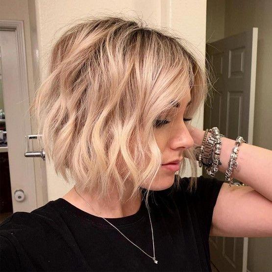 23 Modern Bob Haircuts For Fine Hair 2020 2021 In 2020 Edgy Bob Haircuts Wavy Bob Hairstyles Thick Hair Styles