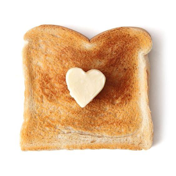 Toast mit Herz