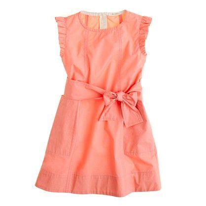 girls' mini ruffle dress