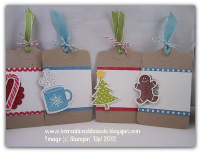 Be Creative With Nicole: Scentsational Tags - SU - Christmas