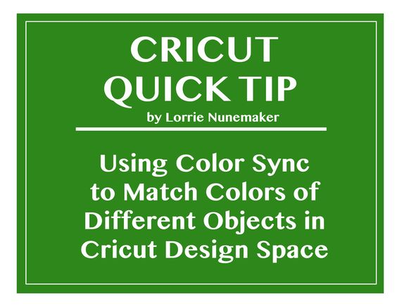 Using Color Sync to Match Colors of Different Objects on the Work Area