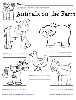 free farm worksheets for kindergarten - Google Search | Farm ...