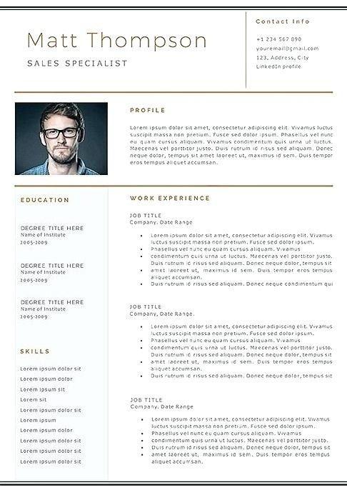 Resume Template Linkedin 2019 Lebenslauf Vorlage Site In 2021 Resume Template Resume Design Template Resume Template Free