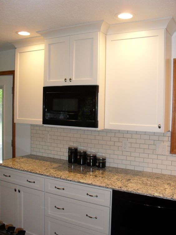 Popular back to and off white cabinets on pinterest - Off white cabinets with chocolate glaze ...