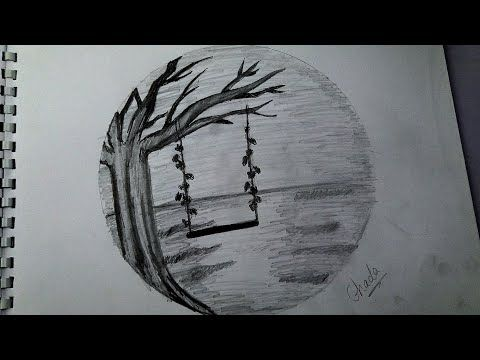 رسم منظر طبيعي بالرصاص رسم سهل خطوة للمبتدئيين Youtube Art Artwork Drawings