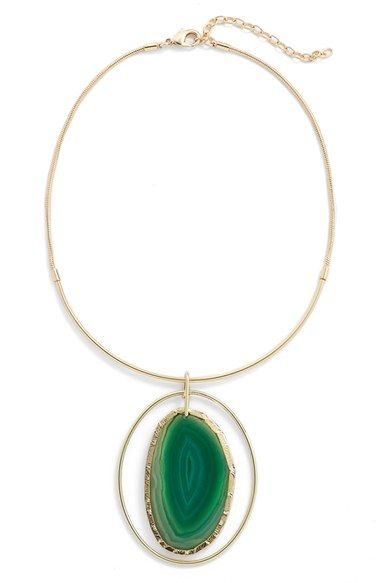 Nordstrom Agate Collar Necklace: