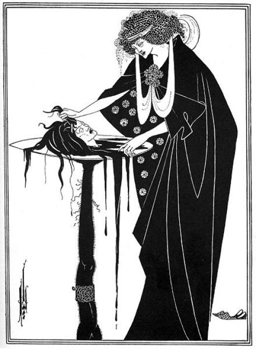 Aubrey Beardsley - Salomè via Oscar Wilde http://www.victorianweb.org/art/illustration/beardsley/primorac.html