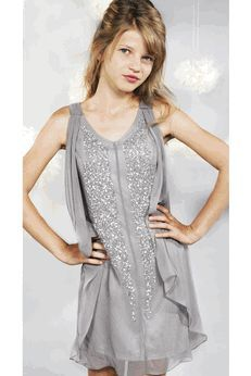 Sara Sara Silver Sequins Grey Tween Dress Dresses for A Certain ...