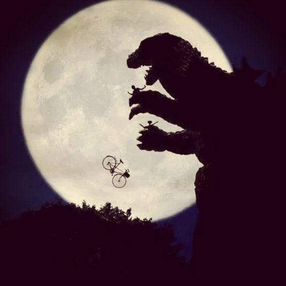 Godzilla Quotes: #godzilla #et #e.t. #movie #funny #fun #moon #picture