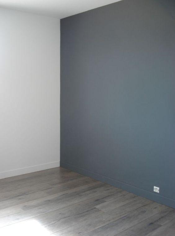 Bien connu Parquet Gris Chambre. Great Chambre Cosy Peinture Blanche Lit Gris  PU27