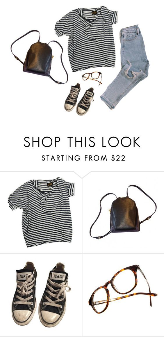 """black, white, & blue jeans"" by crystalpony ❤ liked on Polyvore featuring Vivienne Westwood, Louis Vuitton, Converse, Madewell, women's clothing, women, female, woman, misses and juniors"